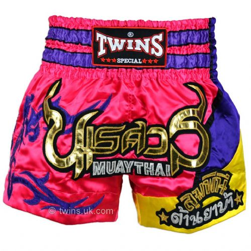 Twins TWS-884 Pink/Purple Muay Thai Shorts